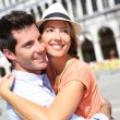 Romantic couple on Piazza San Marco — Stock Photo #35303387