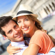 Romantic couple on Piazza San Marco — Stock Photo #35303397