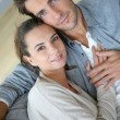 Couple relaxing in sofa — Stock Photo #35306103