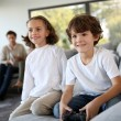 Kids playing video game — Stock Photo #35306489