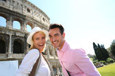 Couple of tourists in Rome — Stock Photo