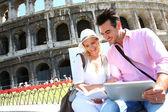 Couple in Rome — Stock Photo