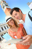 Tourists in San Marco Piazza in Venice — Stock Photo