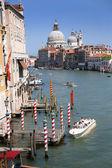 Canal grande and Basilica of Santa Maria della Salute — Stock Photo