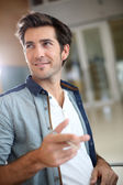 Handsome trendy guy — Stock Photo