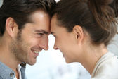 Couple looking at each other — Stock Photo