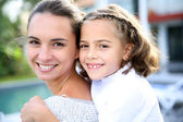 Mommy with cute little girl — Stock Photo