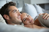 Couple dreaming of their future — Stock Photo