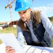 Engineer using tablet — Stock Photo #35315187