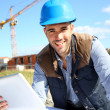 Engineer using tablet — Stock Photo
