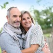 Senior couple enjoying peaceful nature — Stock Photo