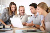 Young people in business meeting — Stock Photo