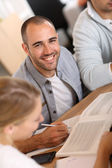 Guy in business meeting — Stock Photo