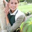 Young woman gardener — Stockfoto