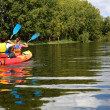 Couple in canoe — Stock Photo #35327257