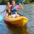 Couple in canoe — Stock Photo #35327405