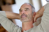 Relaxed senior man — Stock Photo