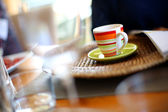 Coffee on table — Stock Photo