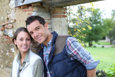 Couple choosing rural lifestyle — Foto Stock