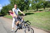 Bicicletas par montar a caballo — Foto de Stock