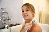 Woman showering — Stock Photo