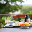 French breakfast in charming hotel — Stock Photo