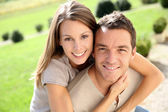 Couple enjoying week-end in countryside — Stock Photo