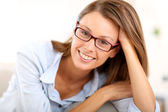 Girl with eyeglasses — Stock Photo