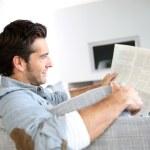 Man reading newspaper — Stock Photo #36645443