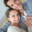 Smiling couple at home — Stock Photo #36645965
