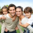 Parents with children — Stock Photo #36646171