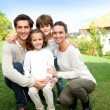 Stock Photo: Smiling family
