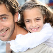 Daddy with cute little girl — Stock Photo
