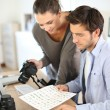 Photo reporters in office — Stock Photo #36646715
