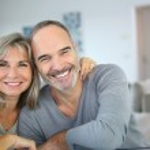 Cheerful senior couple — Stock Photo