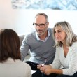Couple meeting financial adviser — Stock Photo #36647985