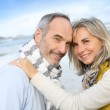 Loving senior couple at beach — Stock Photo #36648405