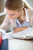Student girl studying — Stock Photo