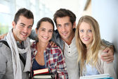 Friends at university — Stock Photo