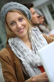 Smiling blond student — Stock Photo