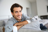 Man relaxing at home — Foto de Stock