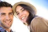 微笑对夫妇 — 图库照片
