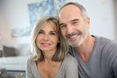 Smiling senior couple — Stock Photo