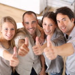 People showing thumbs up — Stock Photo #36652011