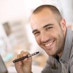 Guy with e-cigarette — Stock Photo #36653015