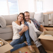 Happy adults at home — Stock Photo