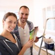 Couple in new house — Stock Photo