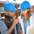 Construction engineers — Stock Photo