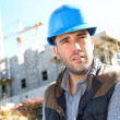 Stock Photo: Serious construction manager