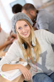 Smiling student girl — Stock Photo